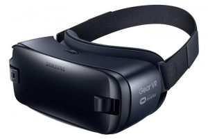 Here is the GearVR headset. Only compatible with Samsung Galaxy Smartphones.